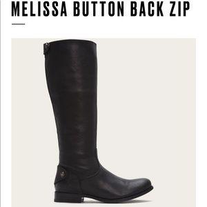 "Frye Boots ""Melissa Button Black ZIP"""